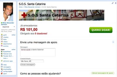 Ajuda a Santa Catarina