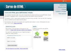 Curso de html para deficientes visuais
