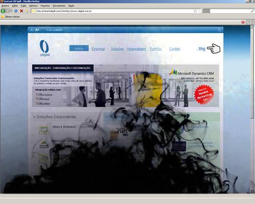 Vazamento de óleo chega a websites